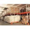 China Push Back Rack / Oranger Pushback Racking Maintenance Free With Pallet Carts Carriages wholesale