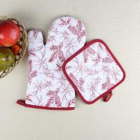 Leaves Printed Heat Resistant Microwave Professional Oven Gloves Pot Holder