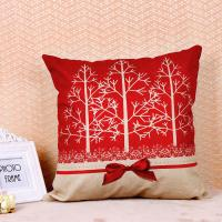 China Tree Pattern Printed Cushion Covers , Comfortable Couch Pillow Covers Cotton Flax wholesale