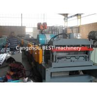 China Steel Structure Galvanized Floor Deck Roll Forming Machine With Highly Speed on sale