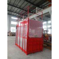 China Floor / Sliding Door Construction Hoist Elevator Single Or Double Cages wholesale