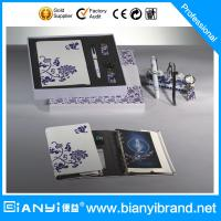 China Leather Promotional Recycled Paper Notebook set with Pen Set in Chinese style on sale