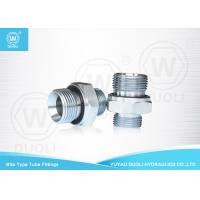 China British Metric Pipe Thread Fittings Bite Type , Hydraulic Tube Fittings With ED Rin wholesale
