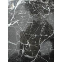 Gold Inlaid Granite Marble Stone / Jade Marble Tile Slab With White Veins