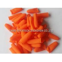 Cut off Orange Anti Static Gloves / Anti Slip Finger Stalls with Textured Surface