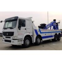 China Howo 8x4 371hp Wrecker Tow Truck Heavy Duty Type 4 Axles 12 Wheels 25 Tons on sale