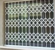 China Aluminium Concertina Window Security Grilles , Retractable Window Grilles on sale