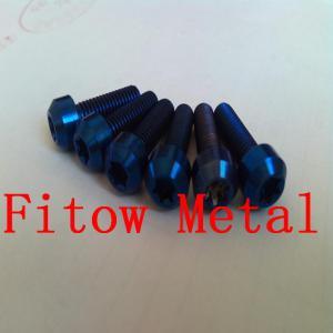 China Titanium hexalobular socket raised countersunk head screws Titanium Countersunk Bolts - Imprint Torx - ISO14584 Grade 2 wholesale