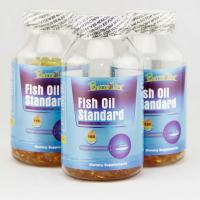 China Omega 3 fish oil softgel standard with EPA and DHA on sale