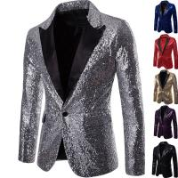China Slim Fit Mens Sequin Jacket Costume For Nightclub Party Popular Elegant Design wholesale