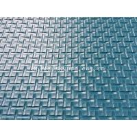 China Blue Conveyor Roll Cross Pattern PVC Conveyor Belt Matt Chemical Resistance on sale