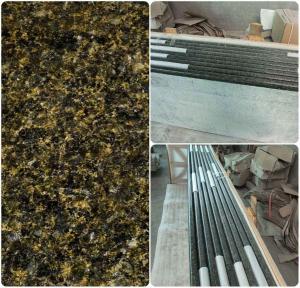 China Green Solid Granite Worktops 250MPA Compressive Strength SGS Standard wholesale
