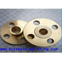 China Cu-Ni 90-10 Forged Steel Flanges , 150#-2500# 1-60 Inch Copper Nickel Flanges wholesale