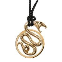 China 18K Yellow Gold Snake Pendant Necklace With 90 Cm Total Length / 48.5 Gr wholesale