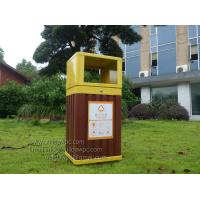 China WPC(wood plastic composites)Dustbin,WPC garbage can,trashbin 415x365x900mm(OLDA-7301) wholesale