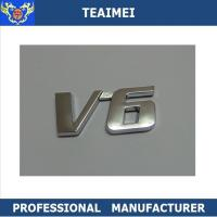 China Professional Normal Size V6 Custom Car Emblem Letters 5-8 Years Use Life wholesale