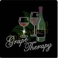 China Fashion Grape Therapy Wine Hot Fix Motif For T-Shirt Hoodies on sale