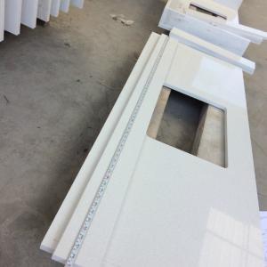 China Quartz kitchen surfaces solid stone kitchen countertops white quartz kitchen worktops on sale