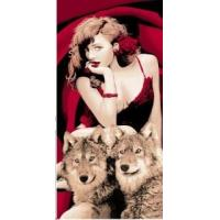 China 100% Cotton Beach Towel with Beauty and The Beast Pattern Me-B455b wholesale
