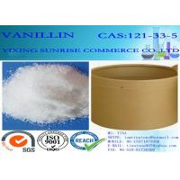 C8H8O3 Chemical Food Additives Slightly Yellow Vanillin Crystals CAS 121-33-5