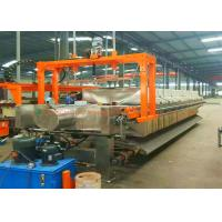 China Stainless Plate Filter Press And Frame Filter Press With High Working Effency on sale