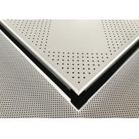 China Aluminium Powder Coated Perforated Metal Ceiling Panel 600 X 600 X 0.6mm on sale
