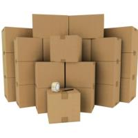Strong Kraft Paper Custom Packaging Corrugated Cardboard Storage Boxes OEM / ODM