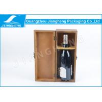 China Lockable Recycled Wine Packing Boxes , Varnish Vintage Wooden Wine Boxes wholesale