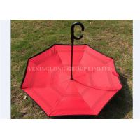 Windproof Large Reverse Folding Umbrella That Folds Inside Out Rain Protection