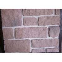 China Decorate Fake Stone Wall Tiles , Faux Rock Wall Covering Solid Surface wholesale