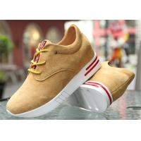 Cow Suede Leather Upper Casual Sport Shoes , Platform Heel Girls Casual Shoes