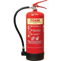 China 6 Litre Foam Fire Extinguisher Inner Painting PVC Rubber Nozzle For Computer Room on sale