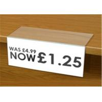 China Low Cost Acrylic Shelf Talkers Shelf Price Holders for Retail Stores / Book Store on sale