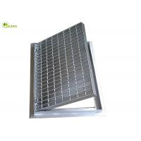 China Pressure Locked Box Galvanised Steel Bar Drain Trench Grating Cover With Frames on sale