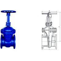China Electric Actuated Water Cast Steel Gate Valve 150lb - 1500lb Pressure wholesale
