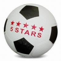 China Promotional Soccer Ball, Made of Rubber, Customized Logos are Accepted, Size of #4 wholesale