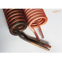 China Copper or Copper Nickel Finned Tube Coil as Refrigeration Condenser / Refrigeration Evaporator wholesale