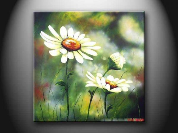Modern Beautiful Flower Paint Handmade Wall Oil Painting for Bedroom ...