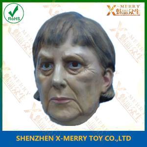 China X-MERRY Angela Merkel Face Mask Latex Human Face Mask Celebrity Mask wholesale