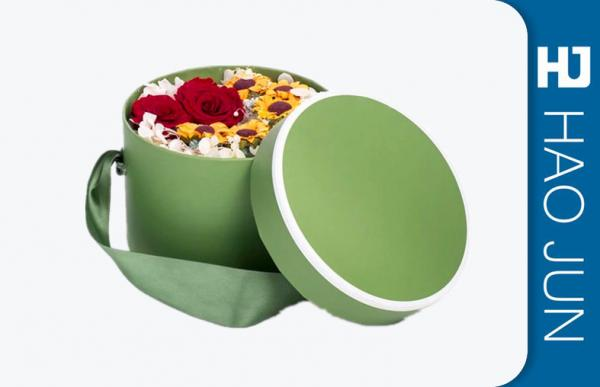 Quality Wholesale Beautiful Round Cylinder Cardboard Paper Flower Gift Box For Flowers for sale