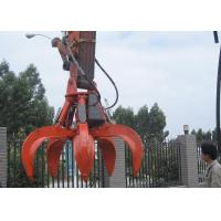 China 5 Cylinders Excavator Grapple , Hydraulic Orange Peel Grapple wholesale