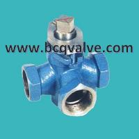 China X14W 3-Way Internal Thread Stainless Steel Plug Valve wholesale