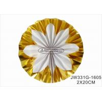 China Hot Gold Foil Paper Fan Wedding Decorations With Vibrant Bright Colors wholesale