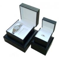 China Decorating Black Gift Watch Packaging Box 4 * 4 * 3.5 Inch With Pu Leather on sale