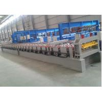 "Decking Floor Step Tile Roll Forming Machine 28 Roller Stations 2"" Chain Transmission"