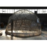 China Expo Geodesic Dome Tent Outdoor 20m Advertising Aluminum Frame Glass Door wholesale