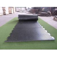 China Customized Size Cattle Rubber Flooring Sheets , Black Livestock Stall Mats wholesale