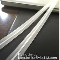 China PE & PP pvc long chain pe double color flange zipper used for zip lock plastic bags, custom zipper washing machine flang on sale