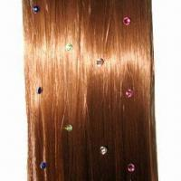 China Crystal Hair Extension, Various Colors are Available, with 8 to 25-inch Length and Metal Clip wholesale