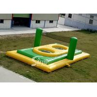 China Commercial grade small size kids N adults inflatable bossaball court with trampolines in the center on sale